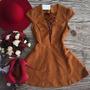 Vestido Curto Feminino Rodado Sued Festa Bojo Lindo #vc17