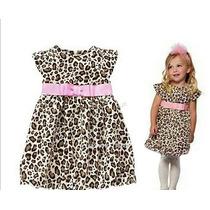 Vestido Com Estampa De Oncinha Com Laco Rosa Infantil