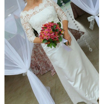 Vestido Noiva Classico Tamanho M