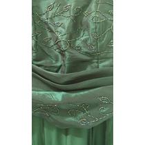Vestido Festa Verde Bandeira Tam 46