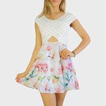 Vestido Rodado Bordado Renda Feminino Choies - Frete Grátis