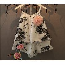 Conjunto Blusa E Shorts De Seda + Algodão - Infantil