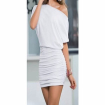 Vestidos Feminino Curto Soltinho Balada Branco Reveillon