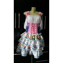 Vestido Festa Junina Quadrilha Fantasia Moderno Chic Cigana
