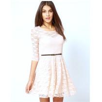 Vestido De Renda Branco Reveillon Festa Casamento Formatura