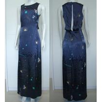 Vestido Longo H&m Fenda Maravilhoso Importado Novo Tam 38