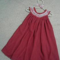 Vestido Infantil Festa Bordado Pérola Natal Infantil Menina