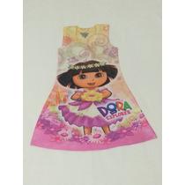 Vestido Estampado Dora Aventureira Frete Gratis