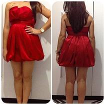 Vestido Vermelho Curto De Seda Forum Imperdivel !!