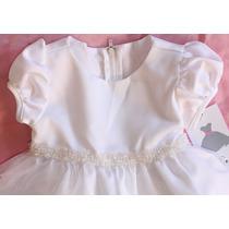 Vestido Branco Rare Editions 02 Ou 03 Anos Promoção!!
