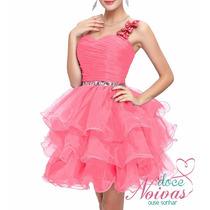 Vestido Noiva Debutante Curto Rosa Novo Pronta Entrega