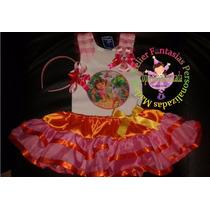 Vestido Fantasia Roupa Aniversário Luxo Dora Aventureira