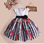 Vestido Aniversario Infantil Importado Flores Vermelhas