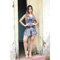 Conjunto Estampado De Linho - Saia E Blusa #2604
