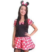 Fantasia Minnie Mouse Sem Bojo - Adulto - Point Da Dança