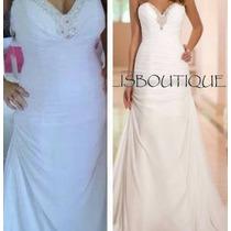 Vestido Noiva Civil Dia Casamento Grego Lisbo Pronta Entrega