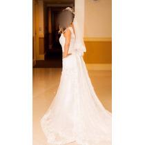 Vestido De Noiva Modelo Sereia - Incluso Coroa