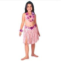 Fantasia Infantil Feminina Havaiana Carnaval Exclusiva