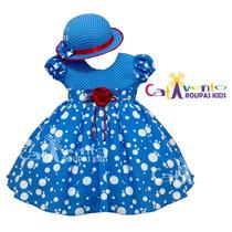 Vestido De Festa Infantil Galinha Pintadinha Com Chapeuzinho