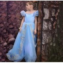 Vestido Infantil Cinderela Festa