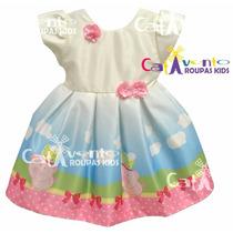 Vestido De Festa Infantil Peppa - Casamento Luxo Com Tiara