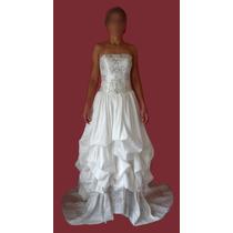 Vestido De Noiva Importado Shantung De Seda Drapeado