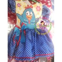 Vestido Fantasia Roupa Aniversário Galinha Pintadinha