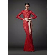 Vestido M Feminino Longo Elegante Clássico Sexy Em Renda