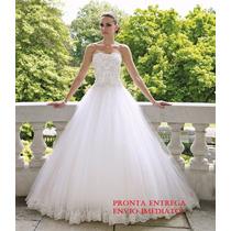 Lindo Vestido De Noiva Novo A Pronta Entrega