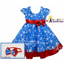 Vestido Infantil Festa Da Galinha Pintadinha Com Tiara