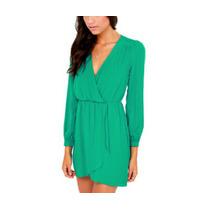 Vestido Importado Verde Curto Manga M
