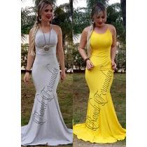 Vestido Feminino Longo Rabo Sereia Viscolycra Festa Panicat