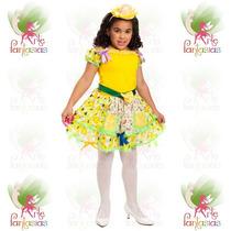 Vestido Junino Caipira Infantil Festa Junina °boneca Amarelo