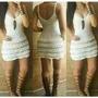 Vestido Curto De Crochê