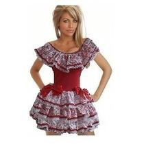 Fantasia Caipira Vestido Vermelho Tam. P ( 38 A 40)