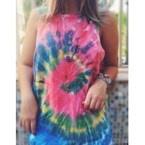 Blusa Tie Dye Hippie E Vintage Feminino