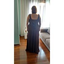 Vestido De Gala Festa Tamanho G - Cor Marron