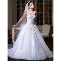 Vestido Noiva Importado Sob Encomenda - Sem Mangas Renda