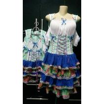 Vestidos Junino Fantasia Moderno Mãe E Filha Camponesa M E 6