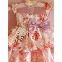 Vestido Infantil Festa Luxo Importado Com Tiara Brinde!!!