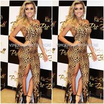 Vestido Pit Bull Jeans Com Bojo Detalhes Dourados!!