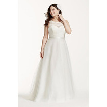 Luxo: Vestido De Noiva Princesa Renda E Tule Nobre Plus Size