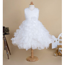 Vestido Daminha De Casamento/ Batismo Vestido Para Meninas
