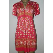 Vestido Tamanho P Mantra Malha Viscose Decote Tenda Roots
