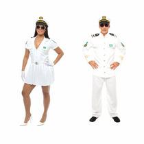 Fantasia Casal Marinheira,capitão Marinha,2 Fantasias