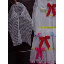 Vestido Noiva Laços Festa Junina 4 A 16 Anos