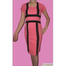 Vestido Feminino Tubinho Geométrico Tule