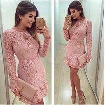 Vestido Blogueira Ariane Canovas Cor Rosa Festa