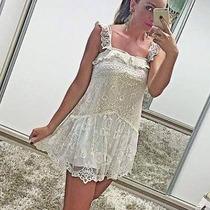 Farm Rio Vestido Novo Com Renda Estilo Princesa Lindo !!! G