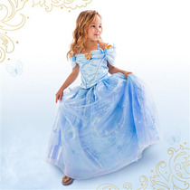 Vestido Fantasia Infantil Cinderela Novo Pronta Entrega